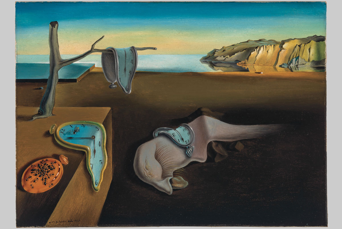 Large Salvador Dali Surrealist Artist /& Pet Ocelot Photo Real Canvas Art Print