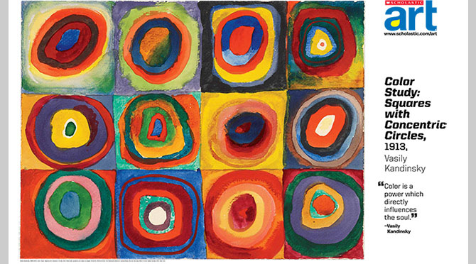 Color Study Squares With Concentric Circles Vasily