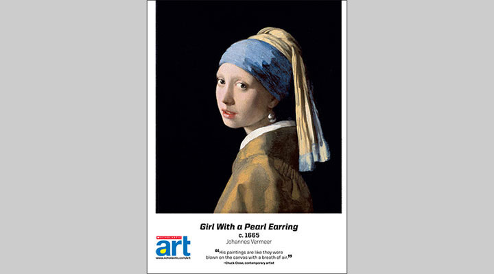 d5e0b359f73 Poster. Download. Print or project this poster featuring Johannes Vermeer s