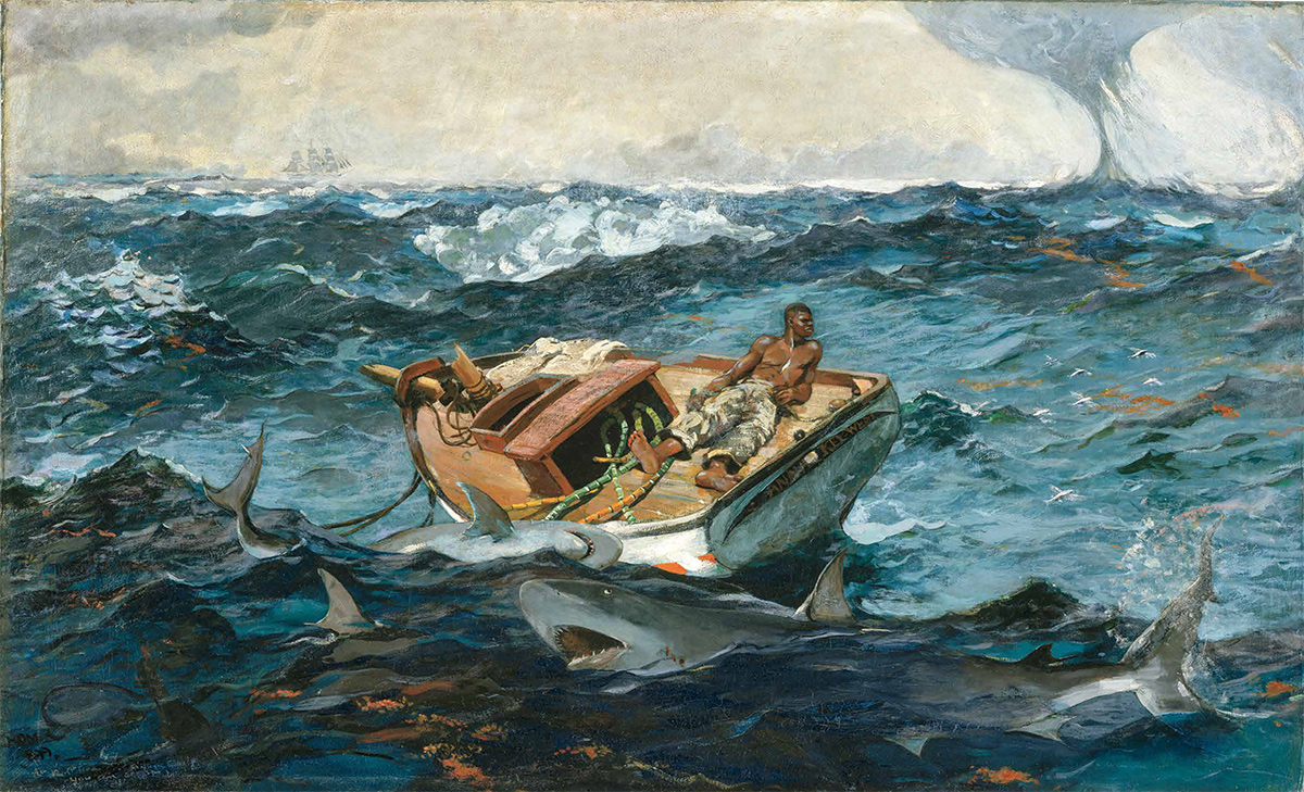 Angry Painter 2016 the gulf stream, winslow homer (1899)